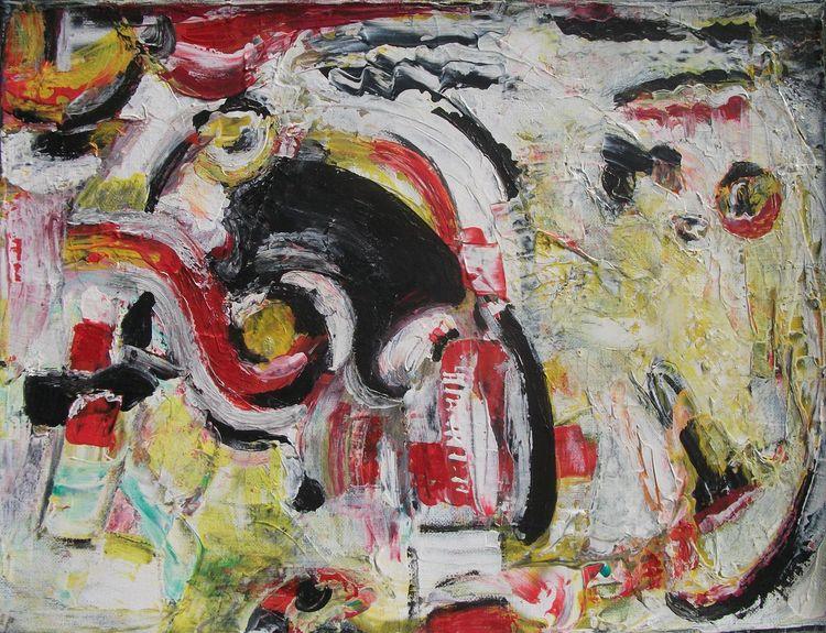 Weiß, Rot, Schwaz, Malerei, Schwarz