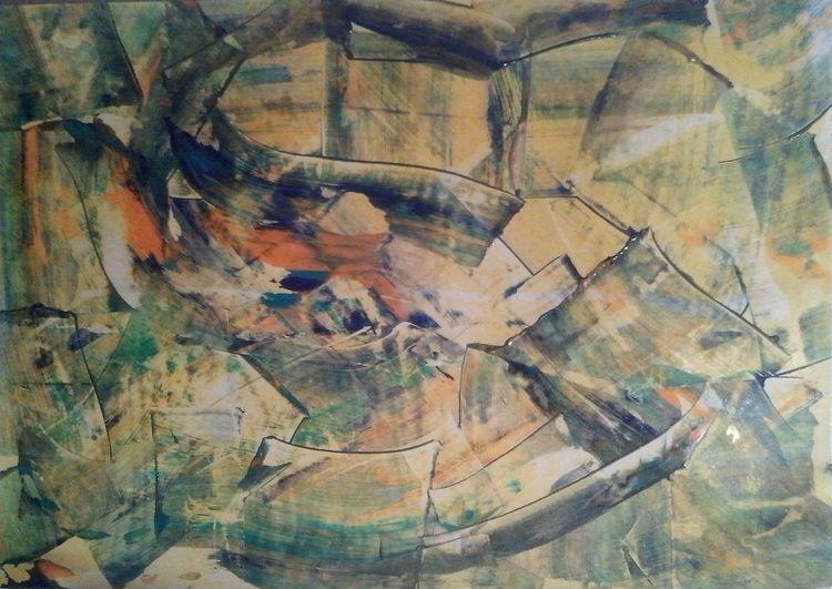 Abstrakt, Modern art, Mischtechnik, Modern, Acrylmalerei, Malerei