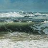 Ölmalerei, Blau, Realismus, Meer