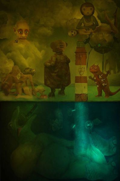 Monster, Leuchtturm, Landschaft, Alien, Meeresgrund, Putin