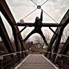 Menschen, Brücke, Natur, Ballon