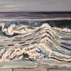 Wasser, Welle, Malerei,