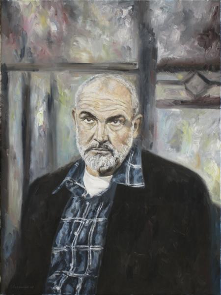 Malerei, Portrait, Connery