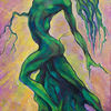 Malerei, Lilla, Surreal, Grün