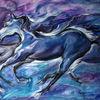 Blau, Figural, Malerei, Mystik
