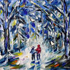 Winter, Winterlandschaft, Kinder, Winterwald
