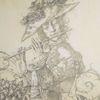 Barock, Schneeglöckchen, Maus, Zeichnung