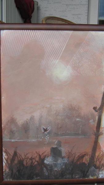 Vogel, Sennefee, Sonne, Malerei, Botschaft