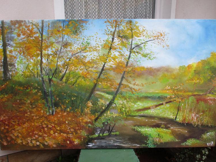 Baum, Blätter, Malerei, November,