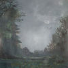 Vogel, Landschaft, Nacht, Malerei