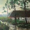 Landschaft, Westfl hof, Fluss, Malerei
