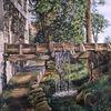 Wasserfall, Baum, Bach, Felsen
