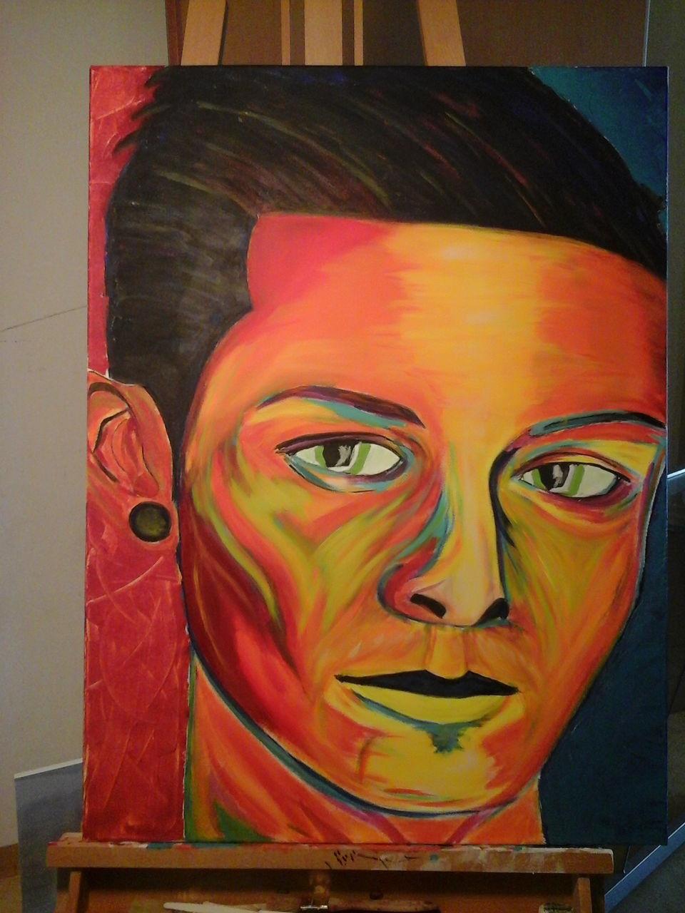 bild portrait realismus farben malerei von augustin peters bei kunstnet. Black Bedroom Furniture Sets. Home Design Ideas