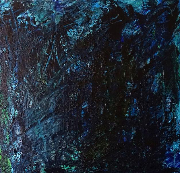 Malerei, Dunkel, Licht, Indigo