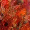 Abstrakt, Rot, Gespachelt, Malerei