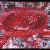 Abstrakt, Malerei, Rot schwarz, Hart