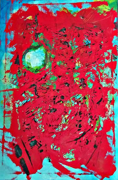 Mischtechnik, Acrylmalerei, Seidenpapier, Emotion, Bunt, Unwetter