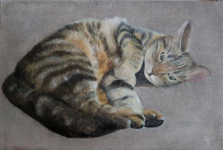 Katze, Tiger, Malerei, Tiere