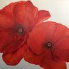 Bunt, Natur, Blumen, Ölmalerei
