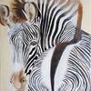 Zebra, Tiere, Wildtiere, Malerei