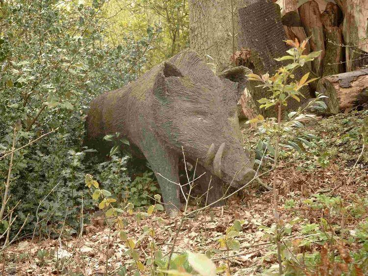 Skulptur, Tiere, Schwein, Figur, Eber, Wald