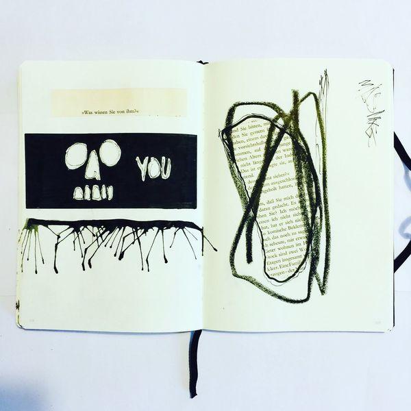 Mischtechnik, Surreal, Mystik, Malerei, Symbol,