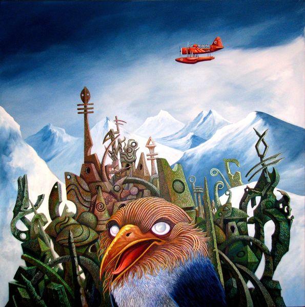 Surreal, Lovecraft, Malerei, Berge, Literatur, Flugzeug