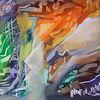 Zeitgenössische kunst, Blau, Moderne kunst, Grün