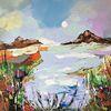 Landschaft, Zeitgenössische malerei, Abstrakte malerei, Abstrakte kunst
