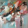 Modern, Gemälde abstrakt, Zeitgenössische kunst, Abstrakte malerei