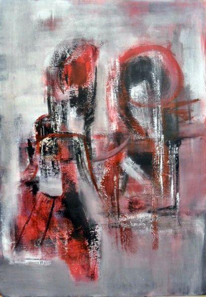 Abstrakte kunst, Schicht, Moderne kunst, Abstrakte malerei, Moderne malerei, Rot schwarz