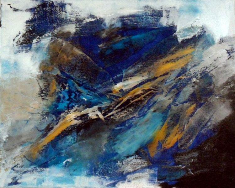 Bild abstrakte kunst spachteltechnik abstrakte malerei for Acrylbilder ideen