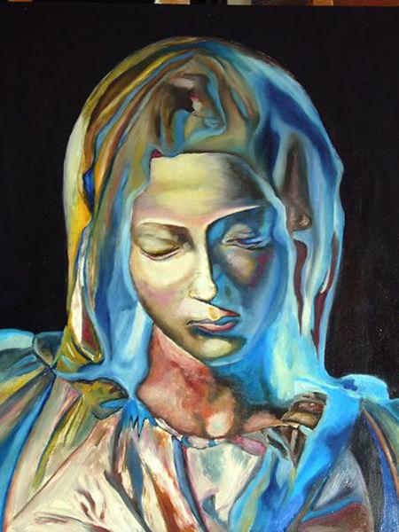 Malerei, Portrait, Frau, 2000
