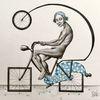 Blaues stirnband, Wissenschaft, Zeichnung, Mann