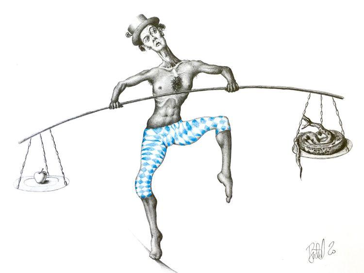 Tanz, Balance, Zylinder, Quarierte hose, Zeichnungen