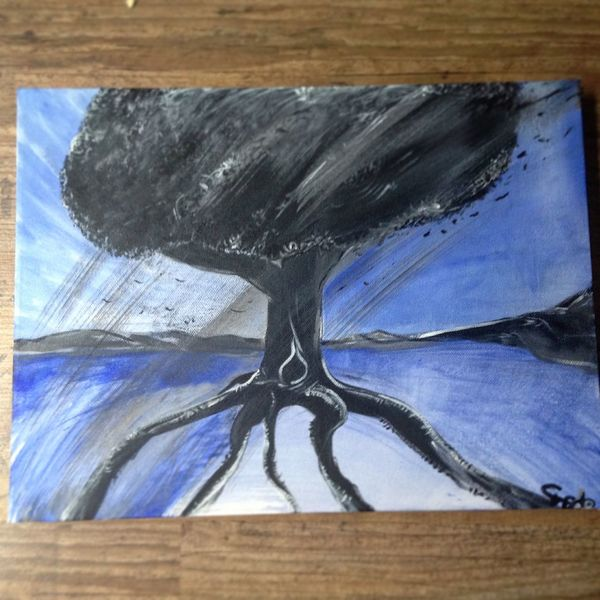 Surreal, Wind, Dynamik, Nacht, Abstrakt, Dunkel