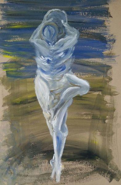 Tanz, Symbiose, Paar, Vereinigung, Innig, Malerei