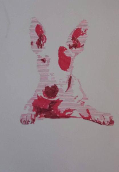 Zeichnung, Pop art, Hund, Abstrakt, Terrier, Marker