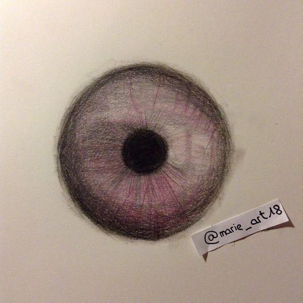 Reflexion, Iris, Augen, Rosa, Zeichnung, Zeichnungen