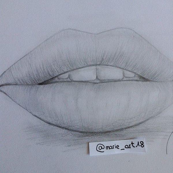 bild bleistiftzeichnung lippen mensch zeichnungen von monja r bei kunstnet. Black Bedroom Furniture Sets. Home Design Ideas