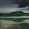 Wolken, Wasser, Baum, Malerei