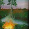 Baum, Fluss, Feld, Feuer