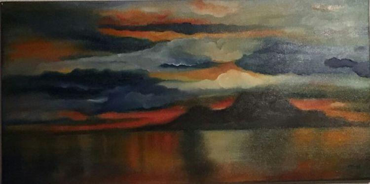 Wolken, Meer, Bunt, Malerei