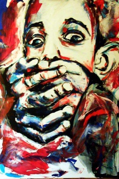 Abstrakt, Religion, Acrylmalerei, Kirche, Portrait, Menschen