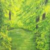 Wald, Grün, Kunstverkauf, Baum