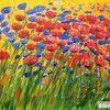 Blumengarten, Gemälde, Blumen, Malerei