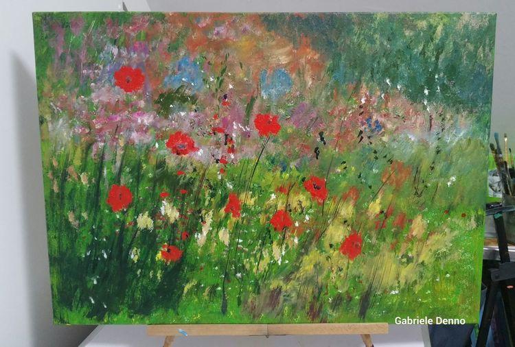 Blumen, Gemälde, Ruhebild, Landschaft, Erholung, Wiese