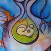 Abstrakt, Schwangerschaft, Acrylmalerei, Frau