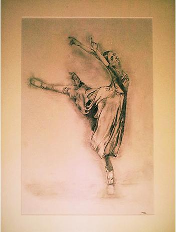 Ballett, Bleistiftzeichnung, Zeichnung, Zeichnungen