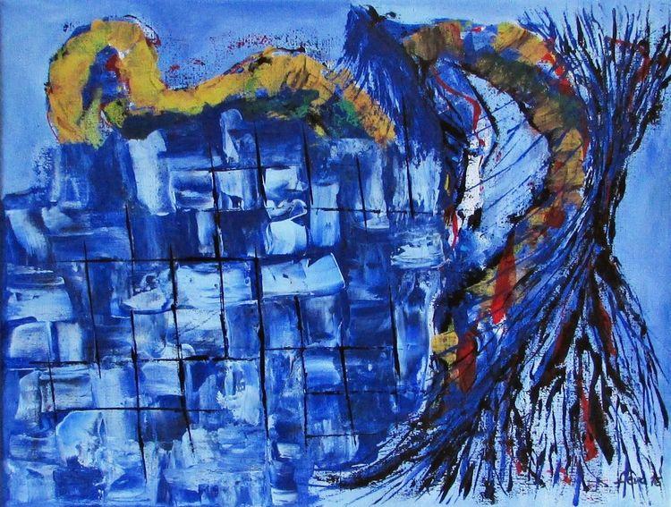 Farben, Malerei, Acrylmalerei, Zeitgenössisch, Moderne kunst, Fenster